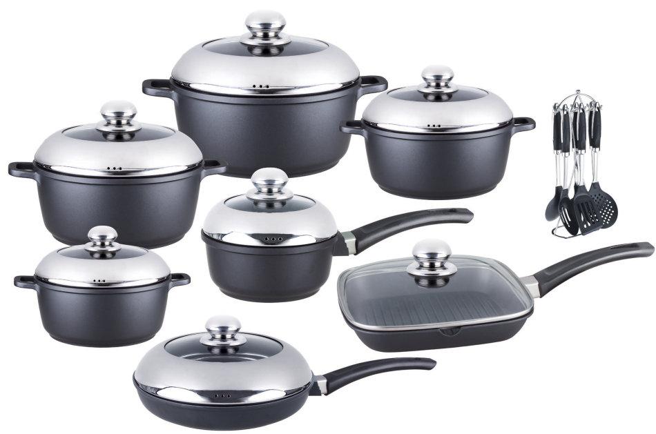 Cookware Sets 21 Piece Die Cast Aluminum Cookware Pot