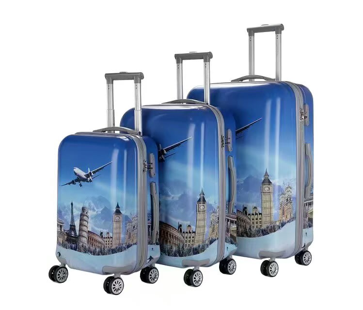 Luggage Sets 3 Piece Abs Pc Hard Luggage Trolley Bag Set