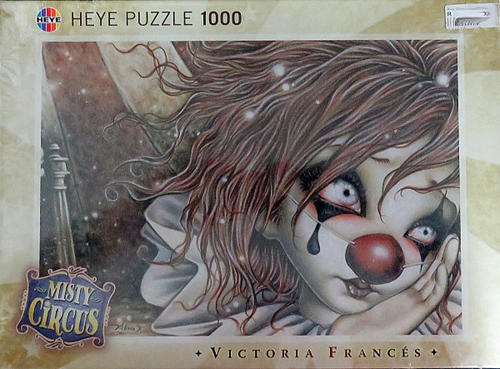 a6b9cfd64fd7 MISTY CIRCUS - Clown Puzzle - Victoria Frances - 1000 Pieces - BRAND NEW  ITEM