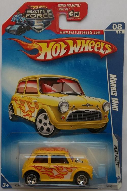 Models Hot Wheels Heat Fleet Morris Mini Cooper Hotwheels Sealed