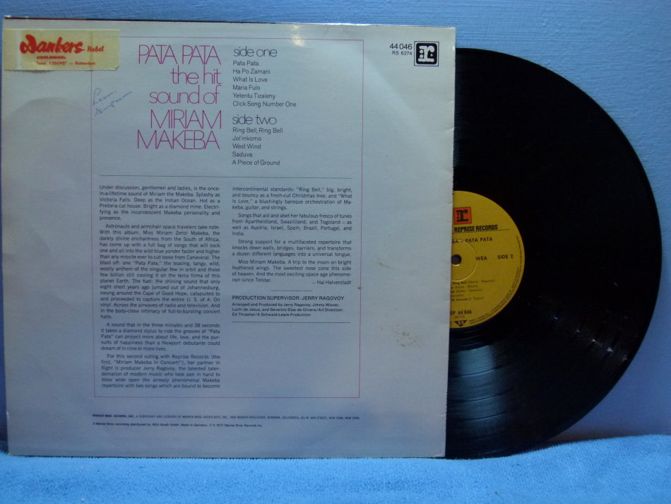 Pop - MIRIAM MAKEBA - Pata Pata - US Pressing was sold for