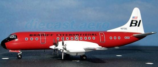 Lockheed L-188 Electra Braniff International 1/400 - Die Cast Model  (ACN9709C)