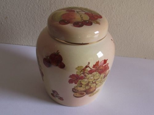English Porcelain Lovely Royal Worcester Palissy Jam Jar Royale