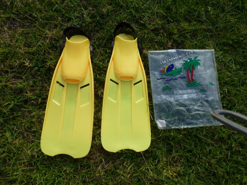 Yellow Flippers Size 5-7 43cm