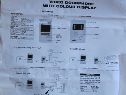 other home security ellies color video door phone was sold rh bidorbuy co za Apartment Intercom Wiring-Diagram GT 2Wire Intercom Schematic