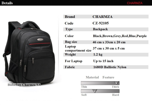 15b723568e Cases   Bags - Charmza Laptop Bag Backpack Water Resistant was ...