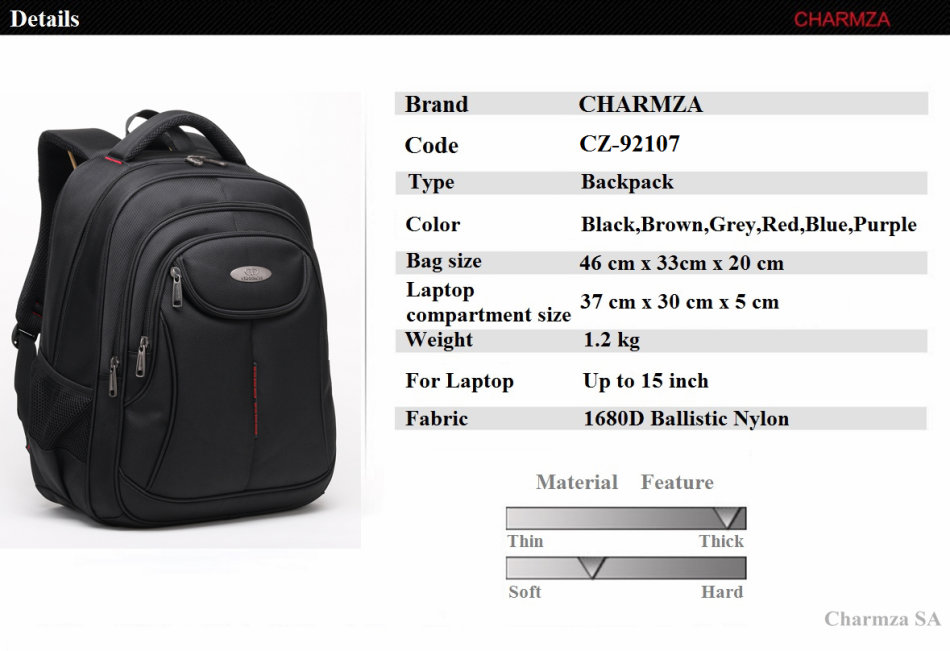 eeaca6000f13 Cases   Bags - Charmza Laptop Bag Backpack was sold for R349.00 on ...