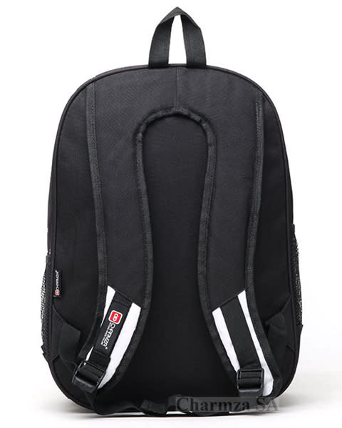 Charmza School Bag Backpack. Colour  Black   White. If you are interested  in buying bulk 03d3b5b7f5f01