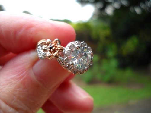 Engagement Rings - Fantastic!2 41ct Moissanite With Diamond