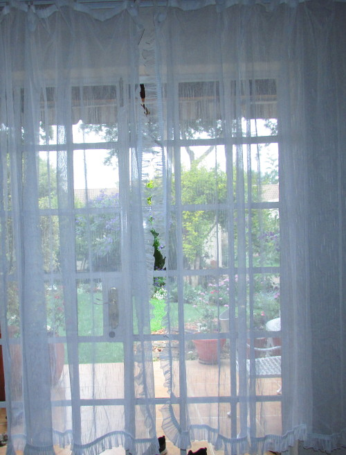 Curtains A Beautiful Pair Of Net Curtains With Frill And