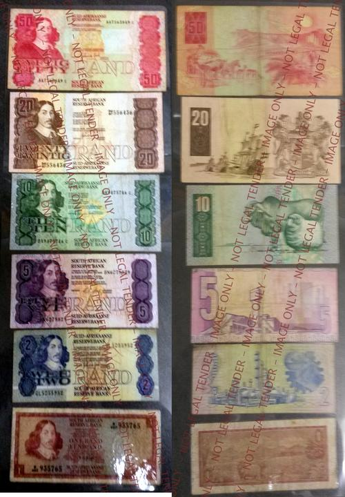 Other South African Bank Notes Full Set Of Old S A Bank Notes Laminated Was Sold For R240