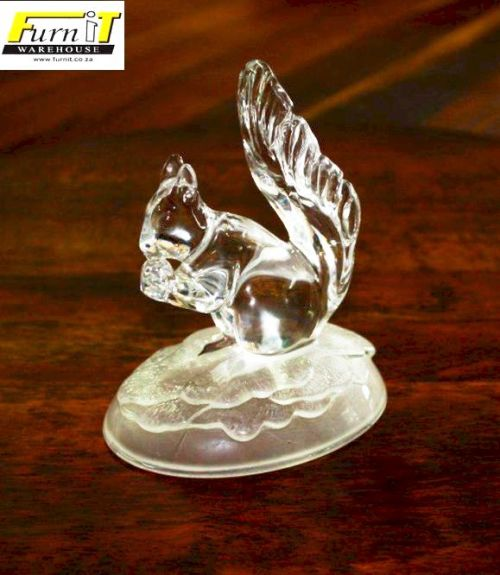 Cristal Darques France.Glass Lead Crystal Squirrel Frosted Base Cristal D Arques