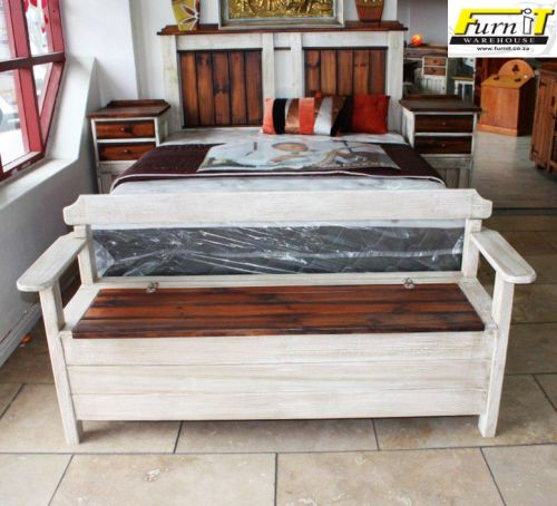 Brilliant Rustic Bed End Bench Storage Solid Wood Ibusinesslaw Wood Chair Design Ideas Ibusinesslaworg