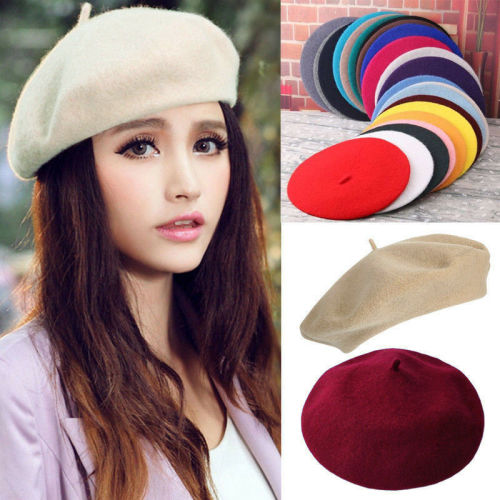 5d99c5b953df1 Hats - Beret Hat for Women Trendy French Style Artist Hats Solid ...