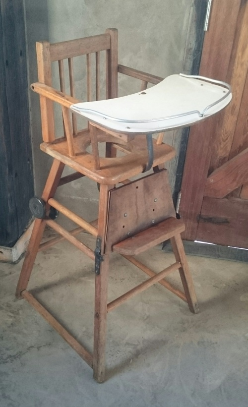 Antique Vintage Wooden Baby Chair as per photos - Chairs, Stools & Footstools - Antique Vintage Wooden Baby Chair As