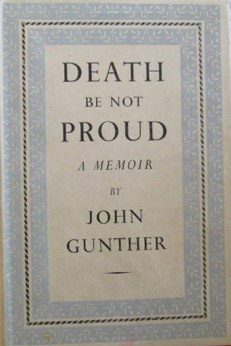 death be not proud john gunther quotes
