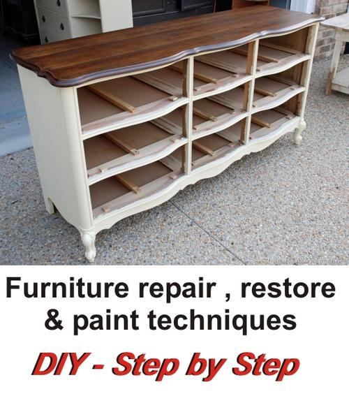 Other Home Living Wood Furniture Restore Repair And Paint Techniques Diy Step By Step