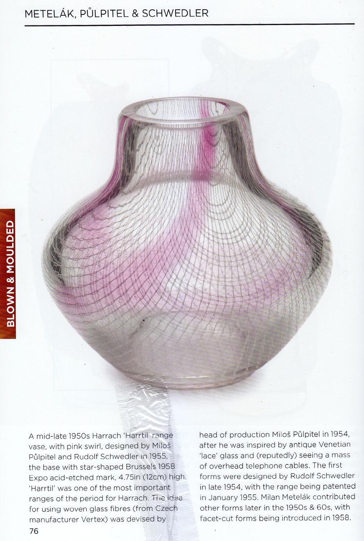 Studio Glass - *A RARE 1955 CZECH HARRACH 'HARRTIL' VASE WITH WOVEN