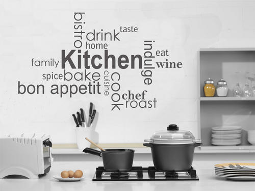 wall decals - tasty kitchen vinyl wall art words -decal sticker