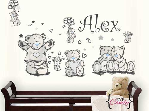 Wall decals personalised tatty teddy neutral baby kids wall stickers decal to decorate childrens room was listed for r299 99 on 8 oct at 1301 by