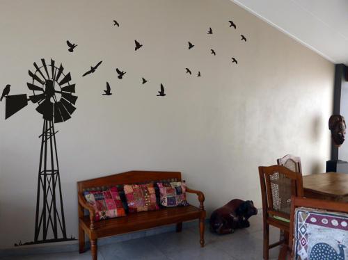 wall decals - giant south african windpump windpomp wall art sticker
