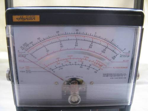 Test equipment hansen multi meter at 3100 japan untested sold as view similar fandeluxe Choice Image