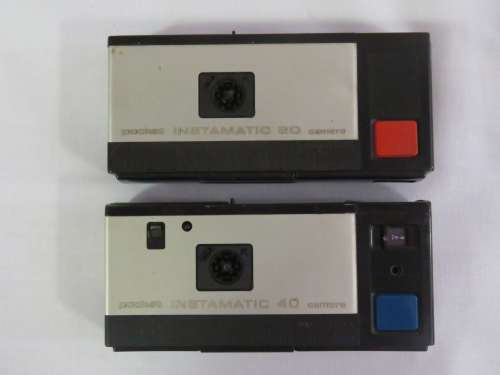 Lot of 2 Kodak Pocket Instamatic cameras - No.20 and No.40