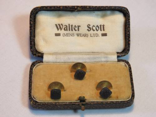 Set of 3 Walter Scott collar studs