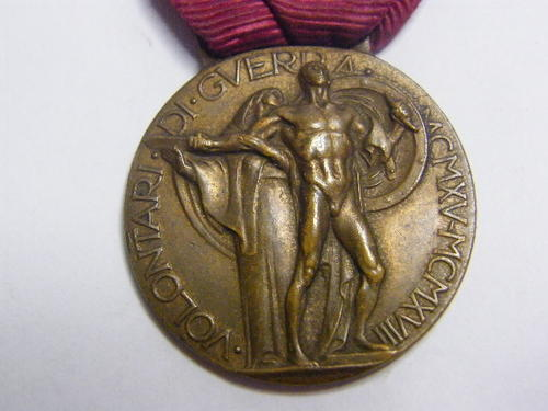 Italian Medal For Volunteers of the WW1 - as per photo