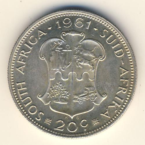 1961 RSA Uncirculated 20 cent