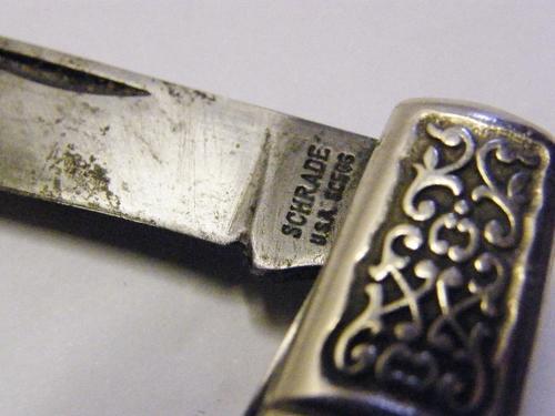 Vintage Schrade Scrimshaw Flying Ducks Pocket Knife - as per photo    bidorbuy co za