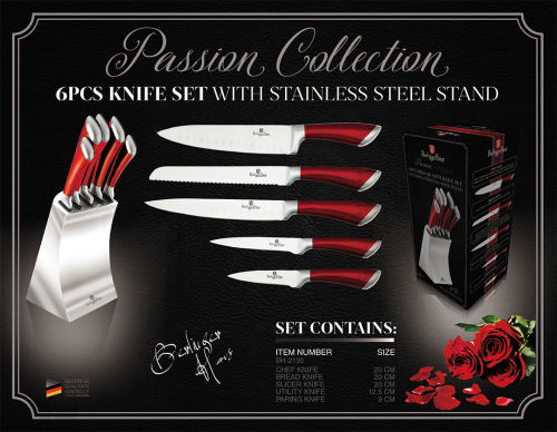 Knives 6 Pcs Knife Set With Stainless Steel Stand