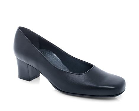 Ladies Black Court Shoes Size