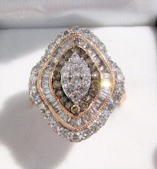 Diamond Rings For Sale Durban: **ULTRA SPARKLY [R102356]** HUGE 3 TIER