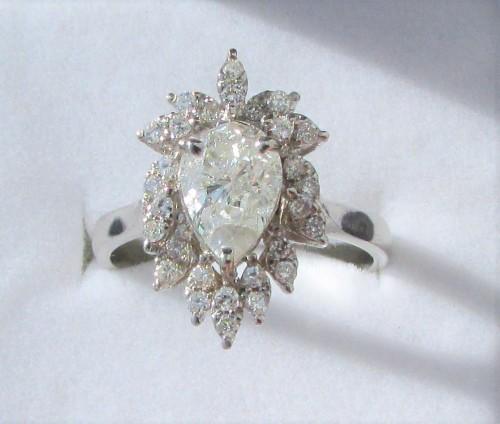 Diamond Rings For Sale Durban: **CERTIFIED [R97362]** HUGE PEAR CUT [1
