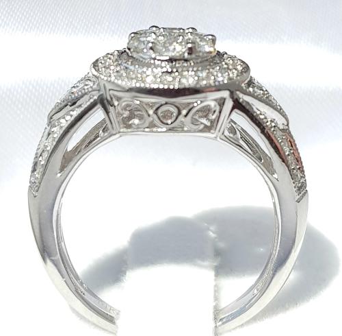 Diamond Rings For Sale Durban: **HALO DESIGN [R58439]** HIGH QUALITY
