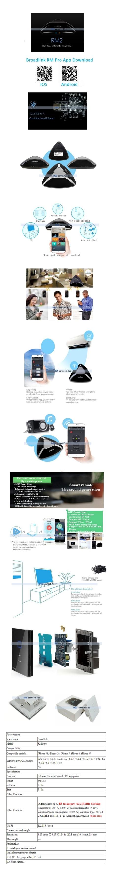 Home Automation - Broadlink RM2 RM PRO Universal Wireless Remote