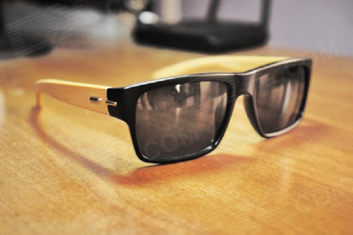 39ad0822a1 Stylish Bamboo Temple UV 400 Protection Sunglasses with Protective Case ( Black+Wood).