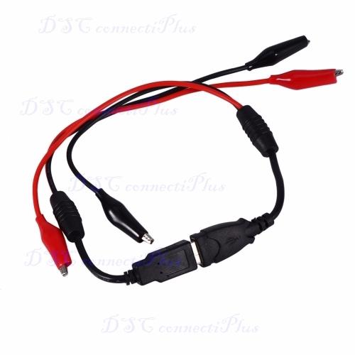 DIY USB Alligator Clips Crocodile Wire Male/Female to USB Line Detector DC  Voltage Capacity Tester!!