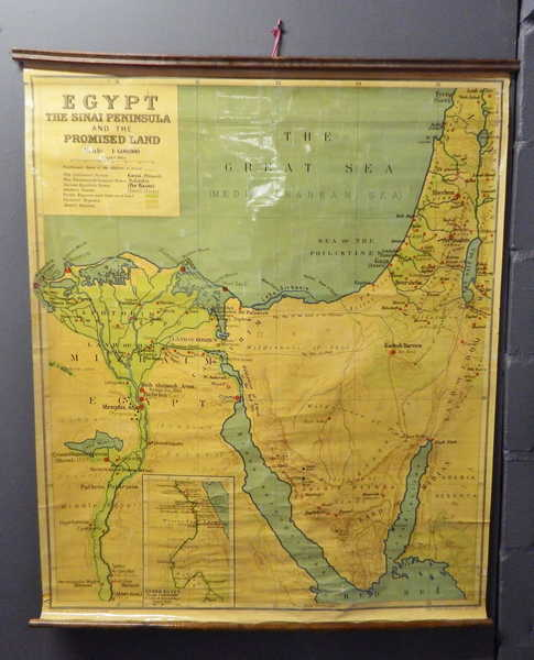 Maps - Bible Lands Cloth School map Nr.2 - Egypt and the Sinai ...