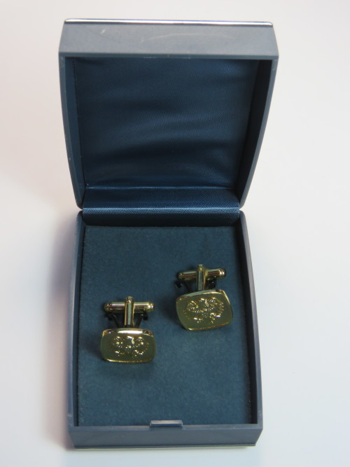 Vintage Barclays Bank cufflinks in box