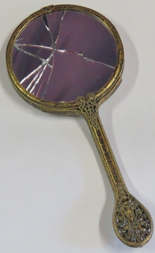 Other Antiques Amp Collectables Antique Brass Hand Mirror