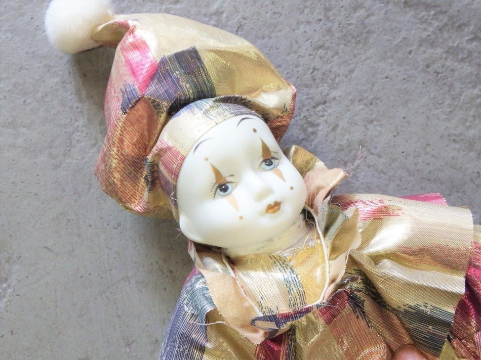 Dolls - Vintage porcelain clown doll for sale in Cape Town (ID