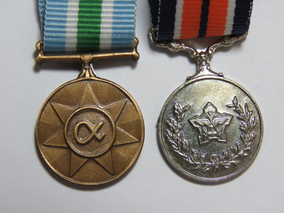 Unieke Antieke - SADF General service and Unitas miniature medals