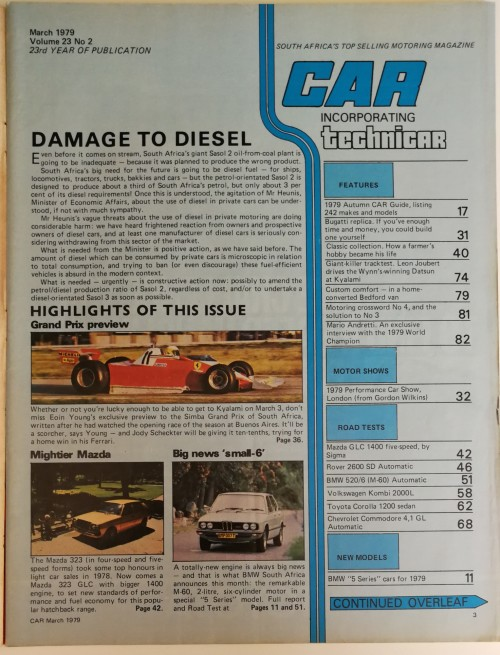 Magazines - CAR Magazine March 1979 was listed for R70 00 on