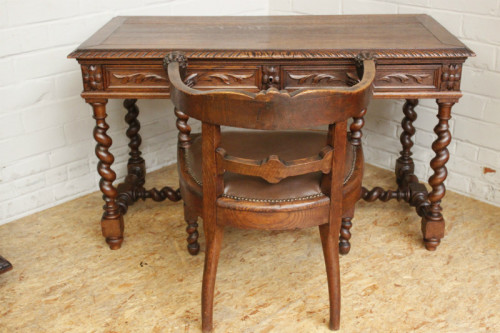 desks louis xiii writing table and chair was listed for. Black Bedroom Furniture Sets. Home Design Ideas