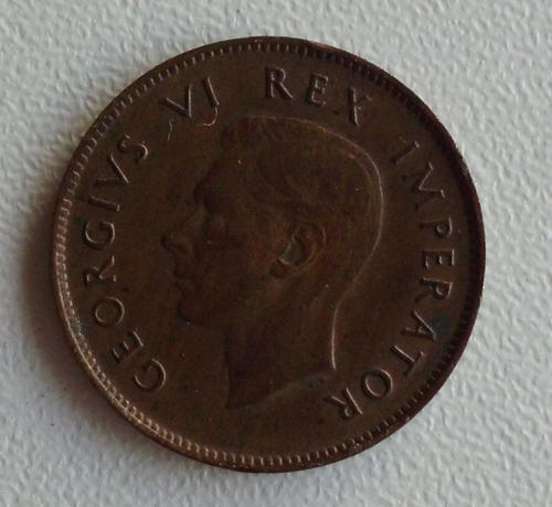 Quarter Penny - 1943 1/4d farthing SA Union EF for sale in Cape Town