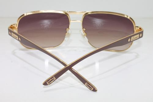 9e85a1e4f2e ORIGINAL CARTIER MENS SUNGLASSES. COLOUR AVAILABLE  BROWN  GOLD. COMES IN CARTIER  BOX AND CASE WITH CLEANING CLOTH AND BOOKLET. MODEL  CA0689S