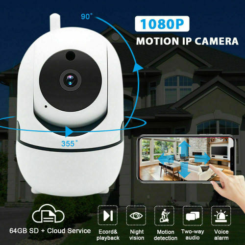 FHD 1080P WiFi Home IP Camera, Indoor Pan/Tilt Wireless Security  Camera,Nanny cam with Auto Tracking