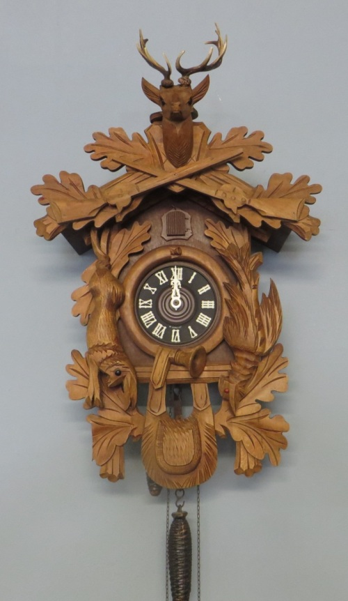 Cuckoo Amp Wall Clocks Stunning Large Old West Germany